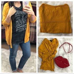 A.n.a. Mustard color cardigan